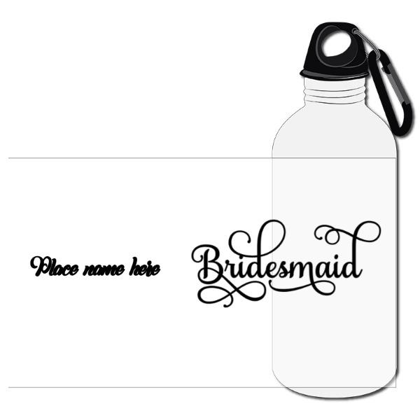 Travel Bottle Aluminum Twist Cap & Hanging Clip White 20oz