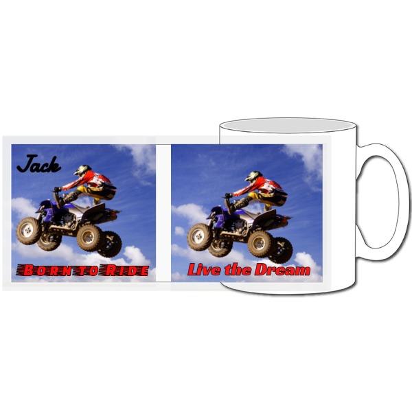 Birthday Quad Bike Mug - 10oz Ceramic Mug