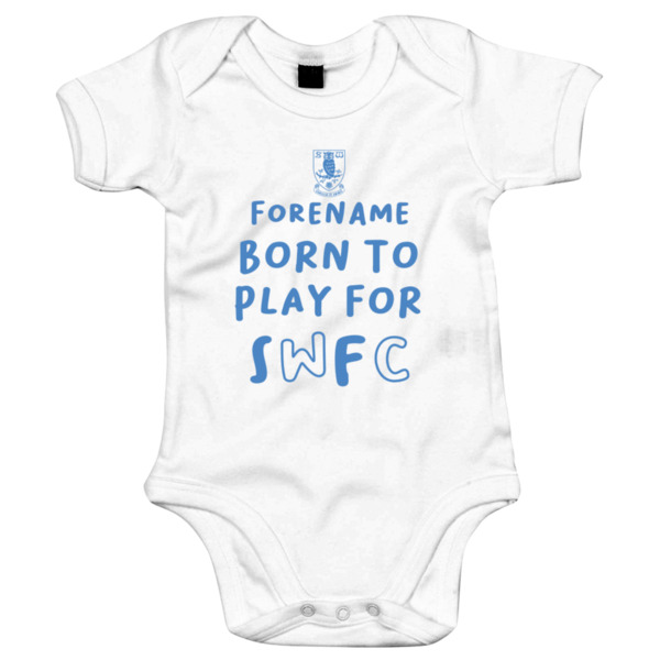 Sheffield Wednesday FC Born to Play Baby Bodysuit