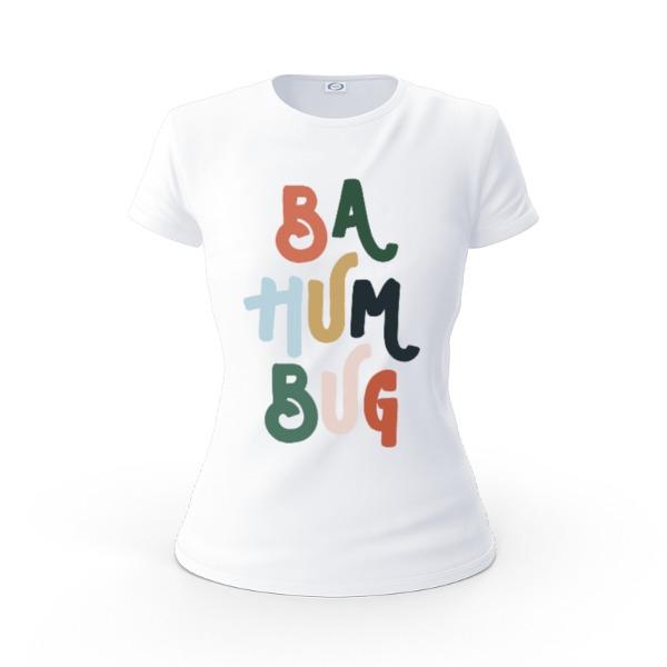 Ba Hum Bug - Ladies Solar Short Sleeve Large Print Area