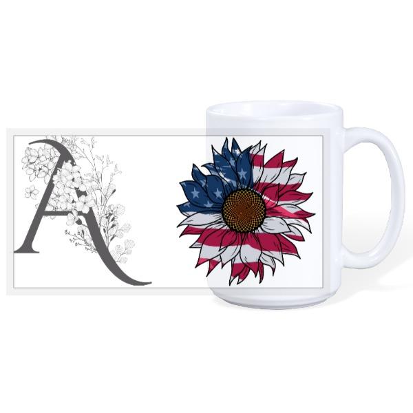 US Flag - 15oz Ceramic Mug