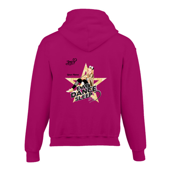 JoJo Siwa Personalised Kids Hoodie - Eat Dance Sleep