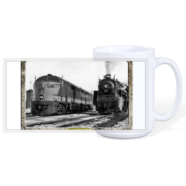 CN Railway steam engine - 15oz Ceramic Mug