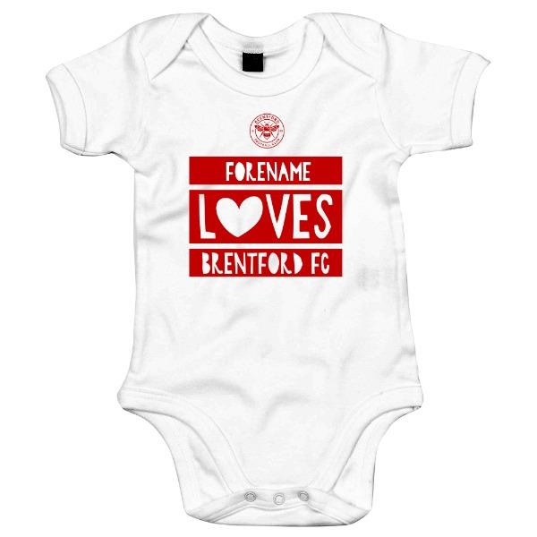 Brentford FC Loves Baby Bodysuit