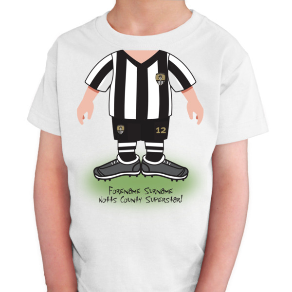 Notts County FC Kids Use Your Head T-Shirt