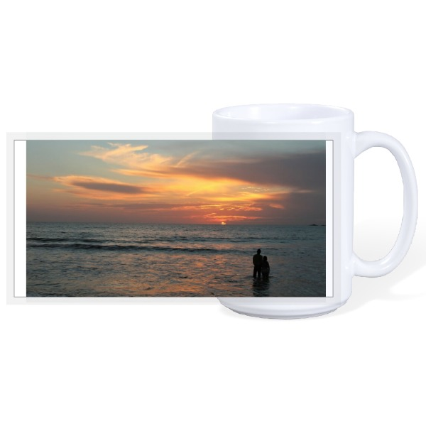 Lover's Sunset Beach - 15oz Ceramic Mug