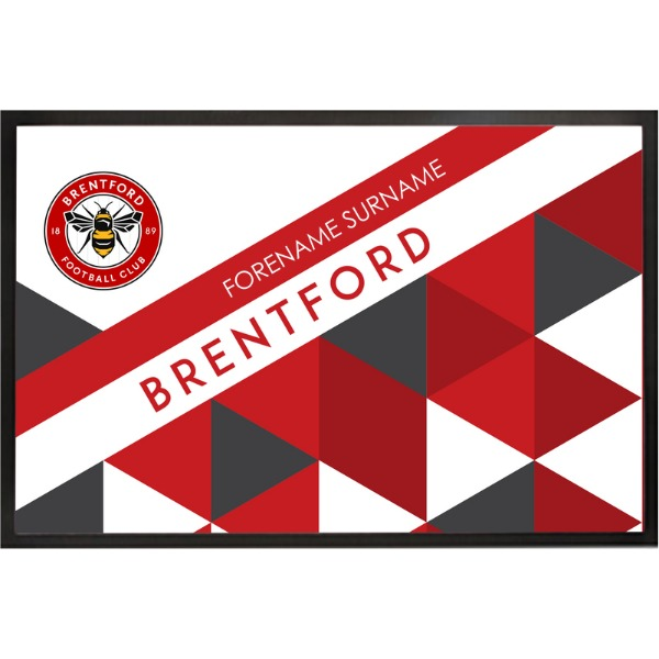 Brentford FC Patterned Door Mat