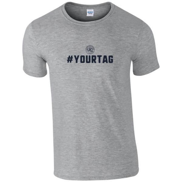 Queens Park Rangers FC Crest Hashtag T-Shirt