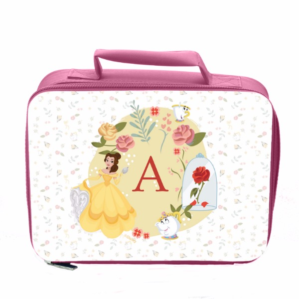 Disney Princess Belle Initial Pink Lunch Bag