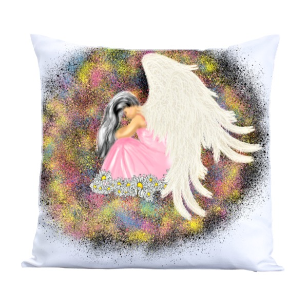 Angel-Pillow Cover Polyester Canvas Square 40cm