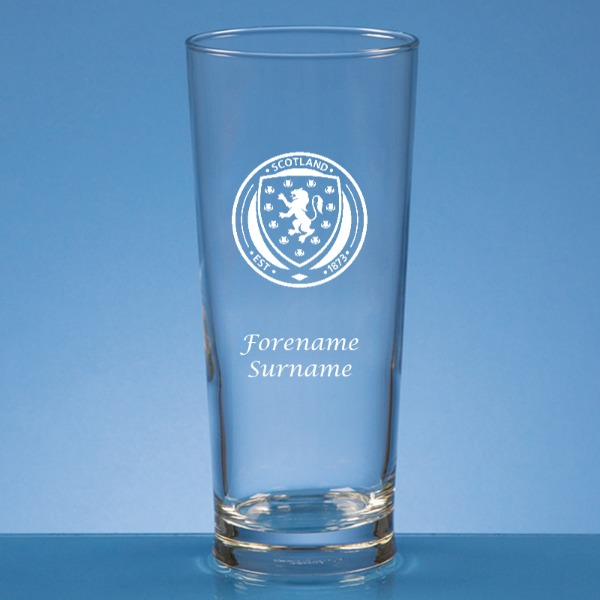 Scotland Crest Straight Sided Beer Glass