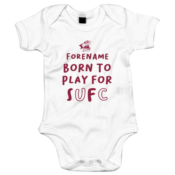 Scunthorpe United FC Born to Play Baby Bodysuit