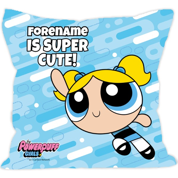 Powerpuff Girls Bubbles Pattern Cushion