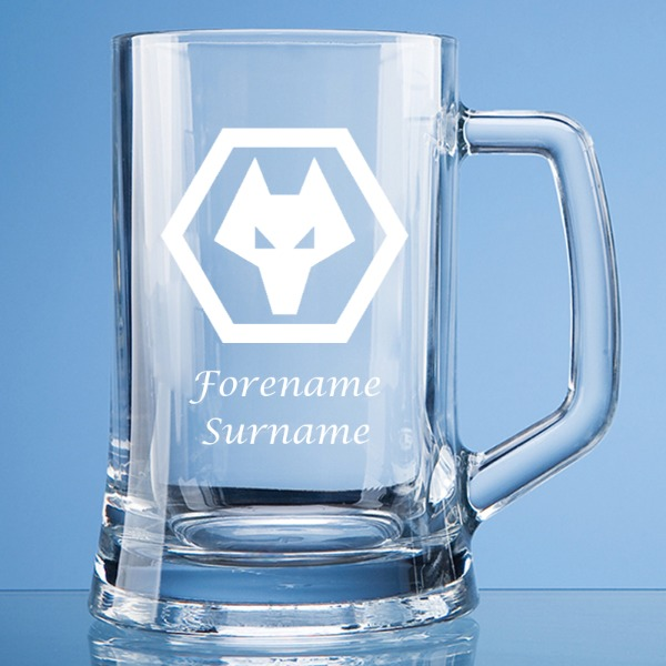 Wolves Crest Large Plain Straight Sided Tankard