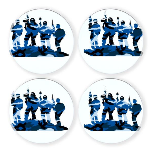 "90mm/3.5"" round coaster set"