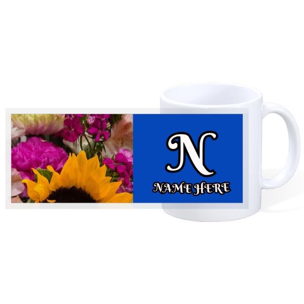 Flower custom mug (personalize) - 11oz Ceramic Mug