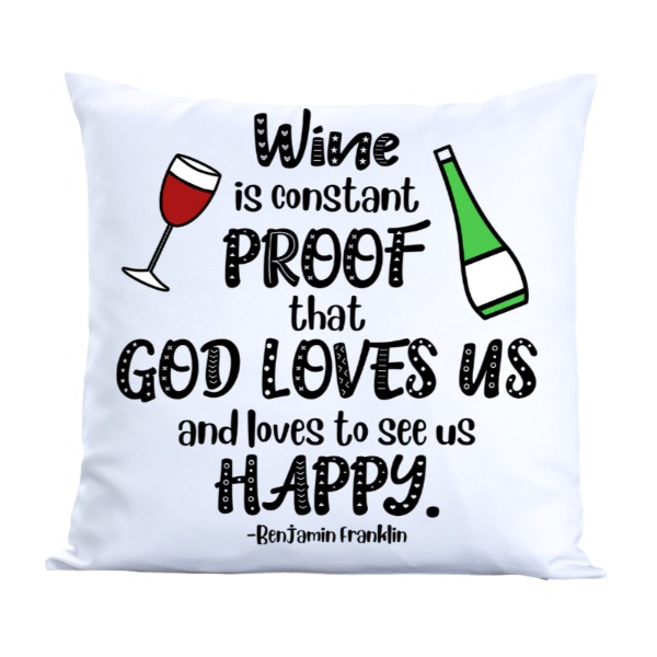 WineIsProof - Pillow Cover Polyester Canvas Square 40cm
