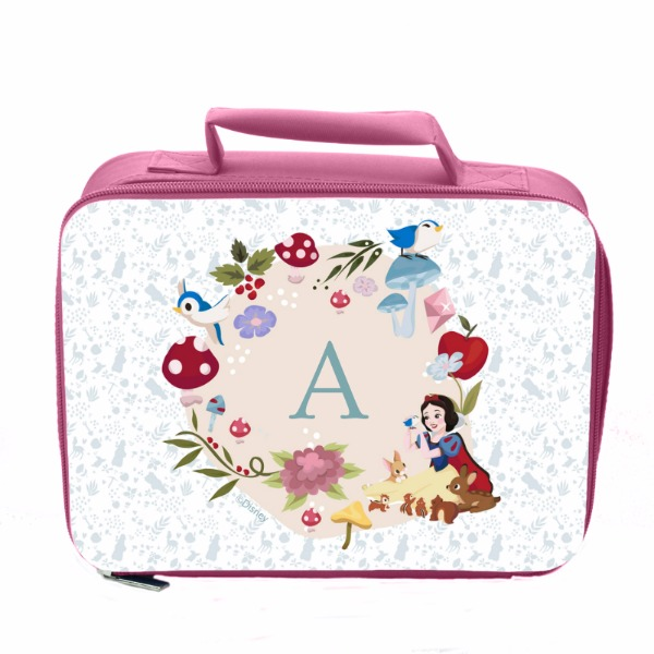 Disney Princess Snow White Initial Pink Lunch Bag