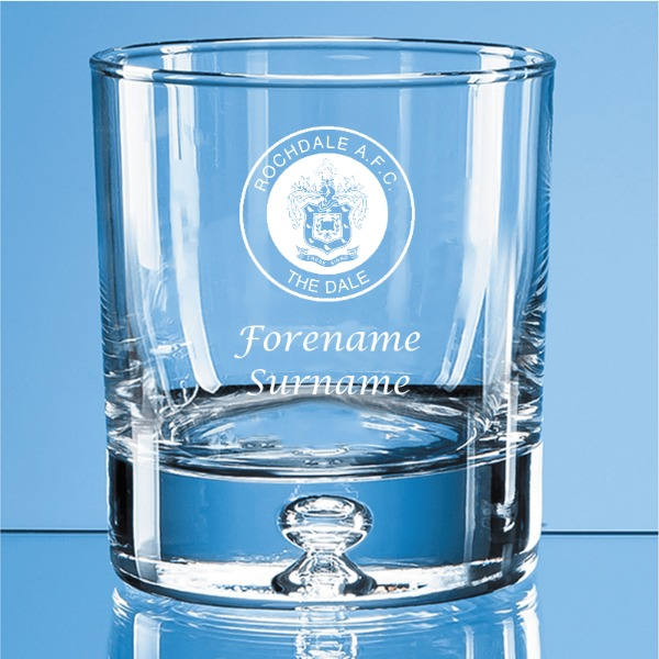Rochdale FC Crest Bubble Base Whisky Tumbler