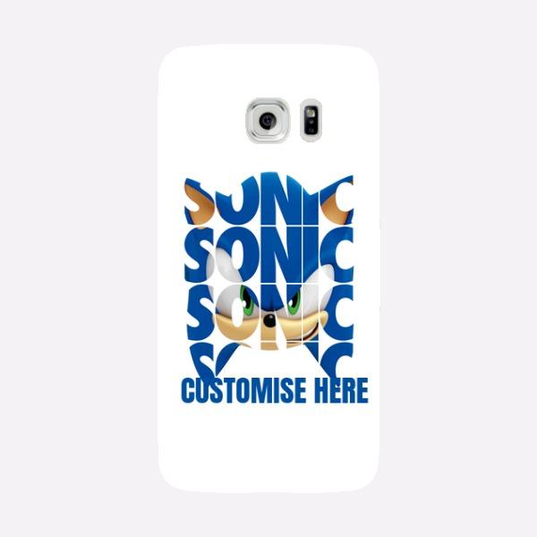 Samsung Galaxy S7 EDGE Phone Case - Sonic Text - Modern sonic
