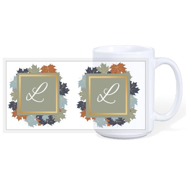 Autumn Initial Mug - 15oz Ceramic Mug