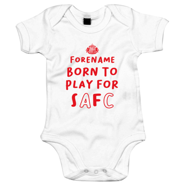 Sunderland AFC Born to Play Baby Bodysuit