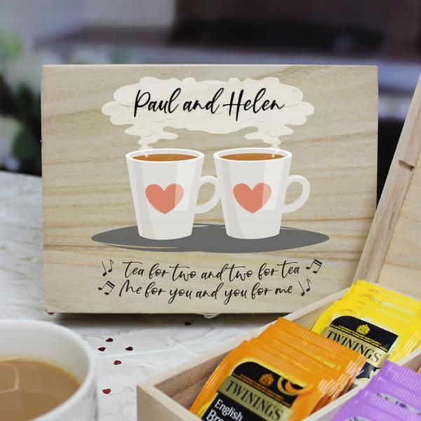 Tea for Two - English Teas 6 Compartment Storage Box