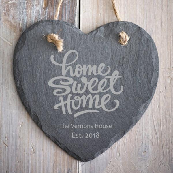 Home Sweet Home Slate Heart