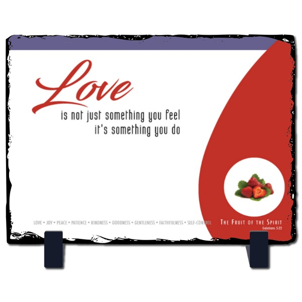Love Slate panel - Slate Photo Panel Stone Rectangle