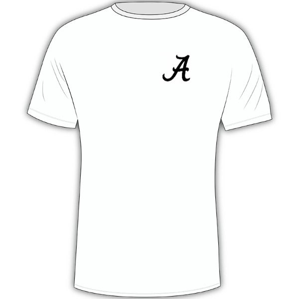 Alabama Elephant - Mens Solar Short Sleeve Large Print Area