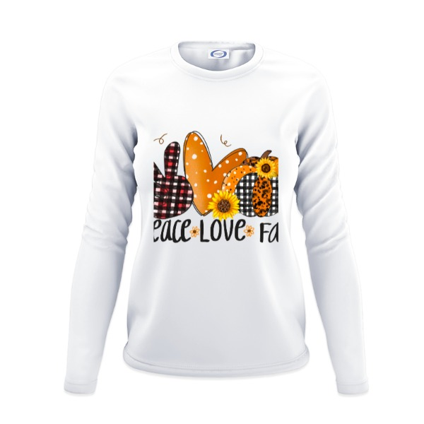 Ladies Solar Long Sleeve Large Print Area