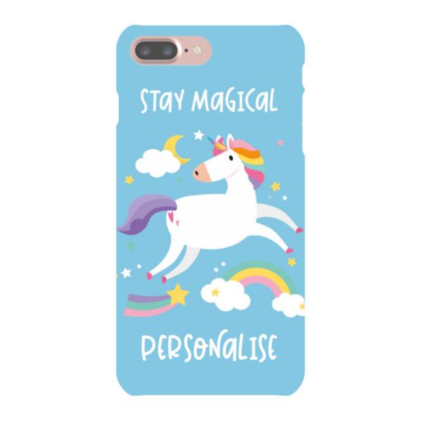 Personalised Unicorn iPhone 8 Plus Hard Back Phone Case