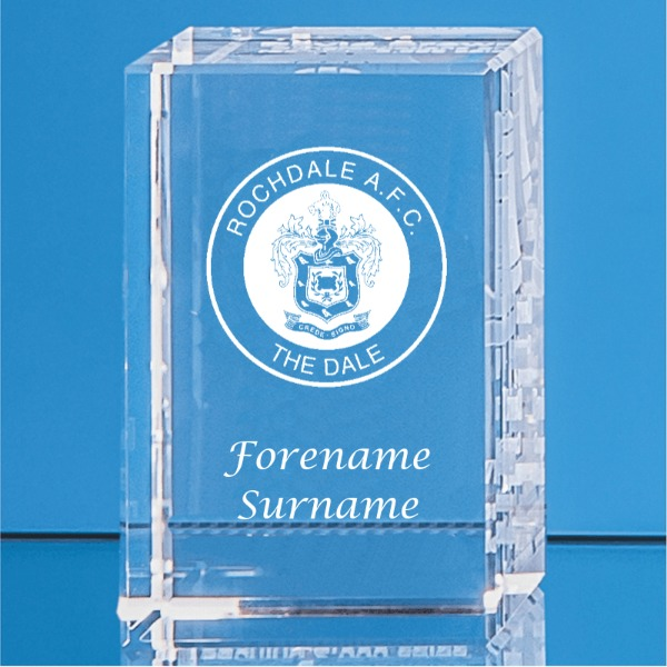 Rochdale FC Crystal Rectangle