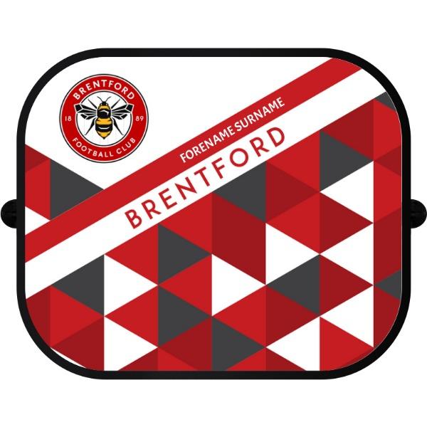 Brentford FC Patterned Car Sunshade