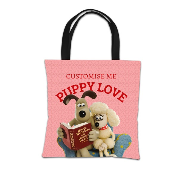 Aardman Wallace And Gromit Puppy Love Tote Bag