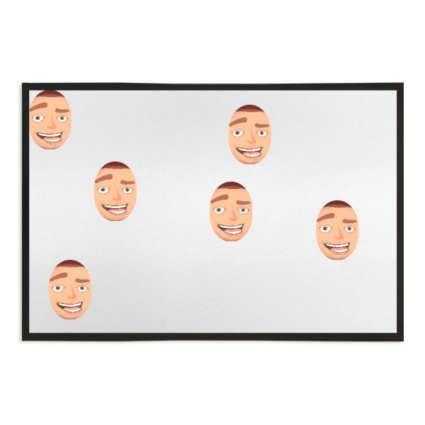Faces All Over - Door Mat - 60cm x 40cm