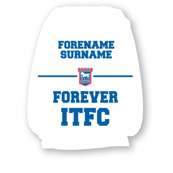 Ipswich Town FC Forever Headrest Cover