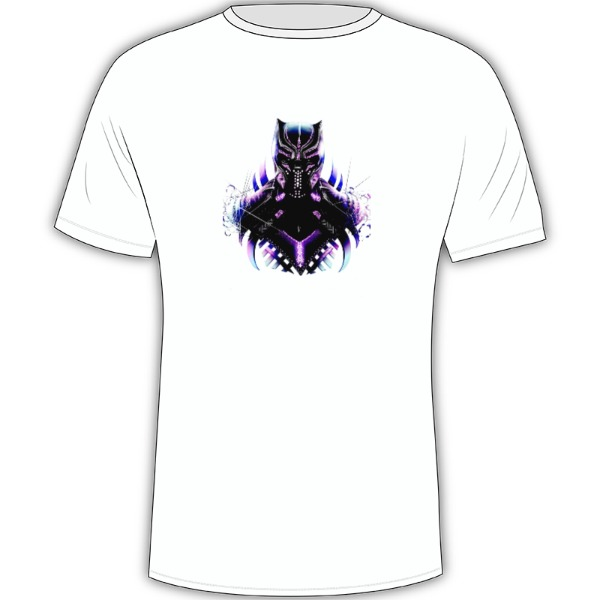 Black Panther 1 - Mens Solar Short Sleeve Large Print Area