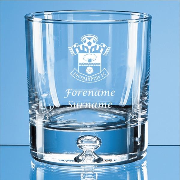 Southampton FC Personalised Crest Bubble Base Whisky Tumbler