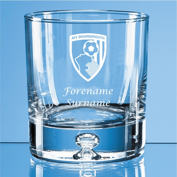 AFC Bournemouth Crest Bubble Base Whisky Tumbler