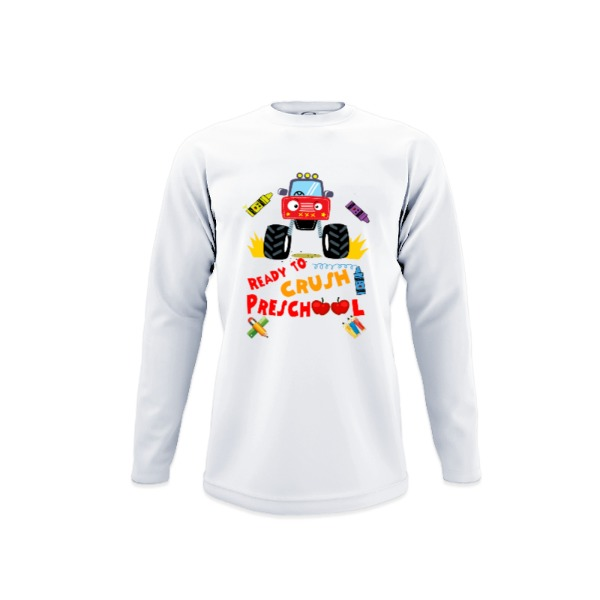 Ready To Crush Preschool - Youth Solar Long Sleeve