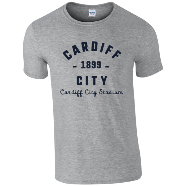 Cardiff City FC Stadium Vintage T-Shirt