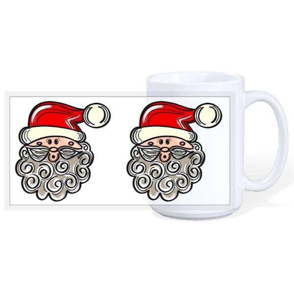 Santa Mug - 15oz Ceramic Mug
