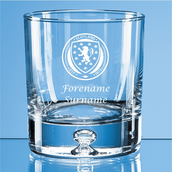 Scotland Crest Bubble Base Whisky Tumbler