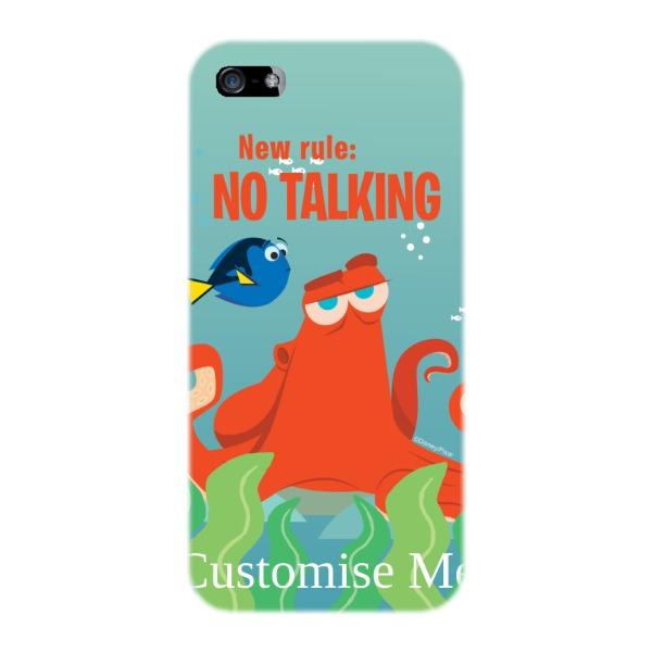 Disney Finding Dory Hank 'New Rule, No Talking' iPhone 5/5s/5SE Clip Case