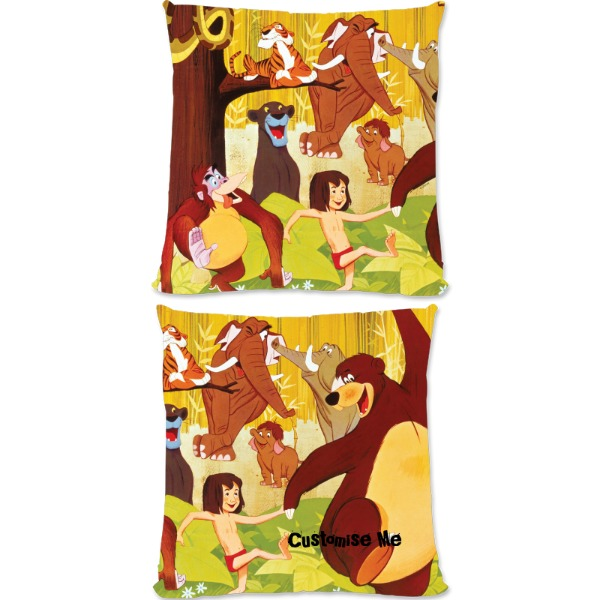 Disney The Jungle Book Retro Poster Art Small Fiber Cushion