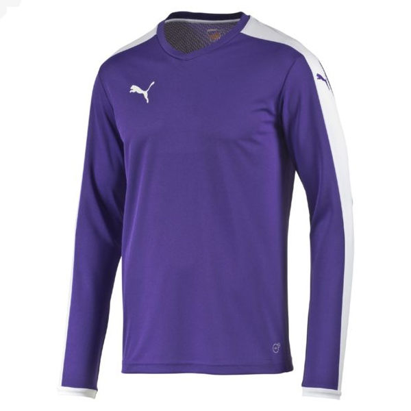 ed54a62f991e Puma Pitch L S Shirt-Purple White – PUMA Teamwear