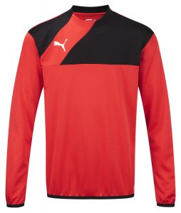 Puma Esquadra Training Sweat-Red/Black