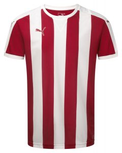 Puma Striped S/S Shirt-Red/White
