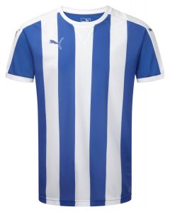 Puma Striped S/S Shirt-Royal/White